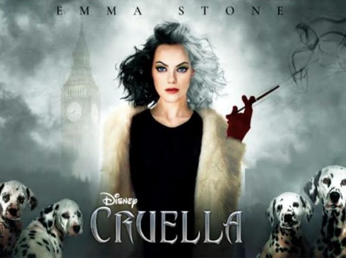 Foto de Emma Stone como Cruella de Vil de Disney