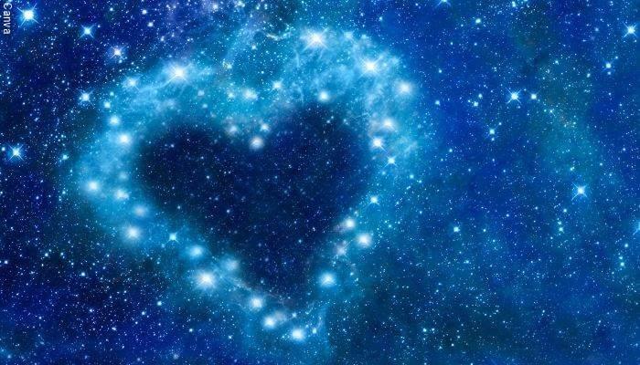 Ilustración de estrellas formando un corazón