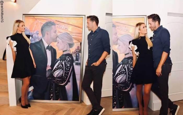 Foto de regalo de Paris Hilton a su novio: un cuadro de los dos
