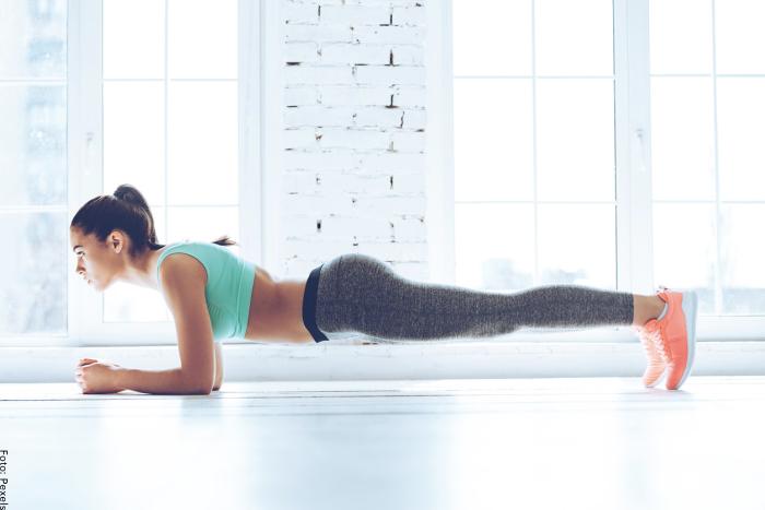 Foto del ejercicio plancha