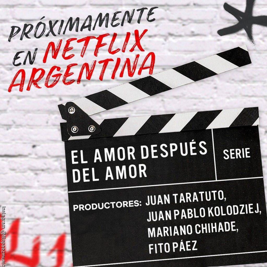 Imágen promocional de la serie de Netflix sobre Fito Páez llamada El amor después del amor