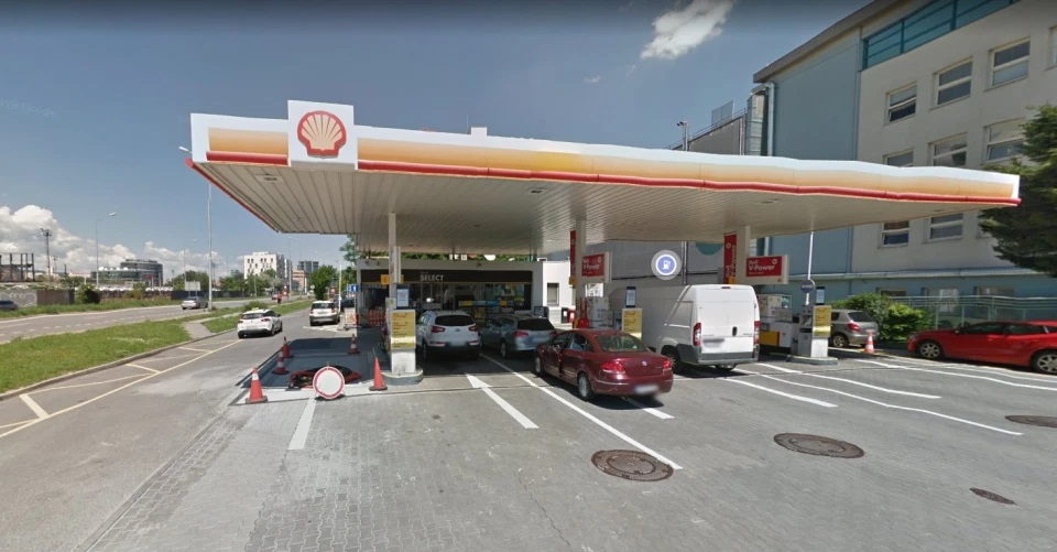 Gasolinera en Eslovakia en donde ocurrió el intento de robo.