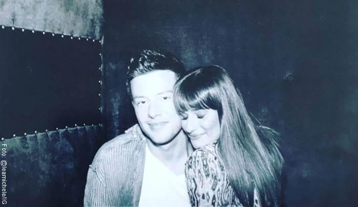 Foto de Lea Michele y Cory Monteith como ejemplo de historias de amor tristes