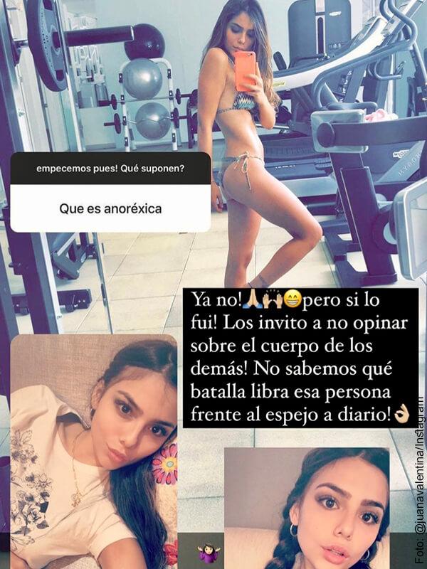 Juana Valentina confesó que fue anoréxica y puso a pensar a sus fans