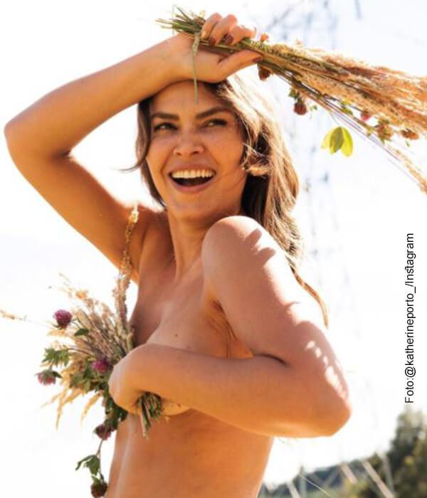 Katherine Portó posó desnuda y provocó más de un infarto en redes