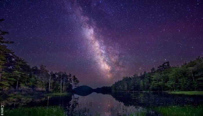 Foto del cielo estrellado