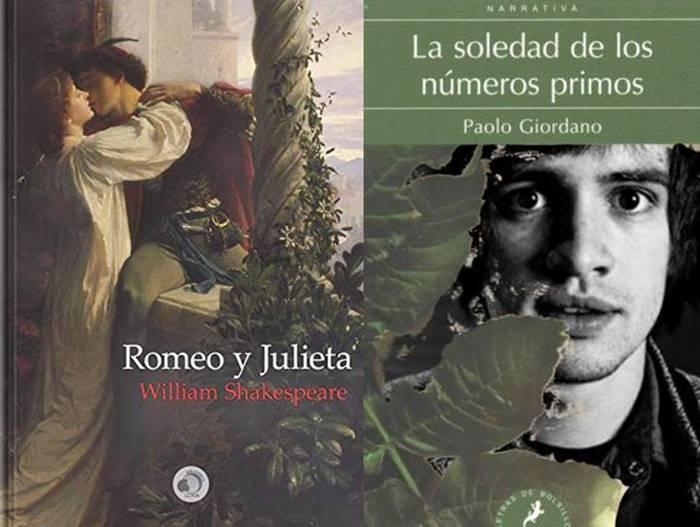 Foto de libros Romeo y Julieta y La soledad de los números primos