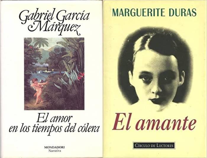 Foto de los libros El amor en los tiempos del cólera y El amante