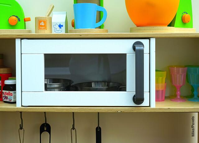 Foto de un horno microondas