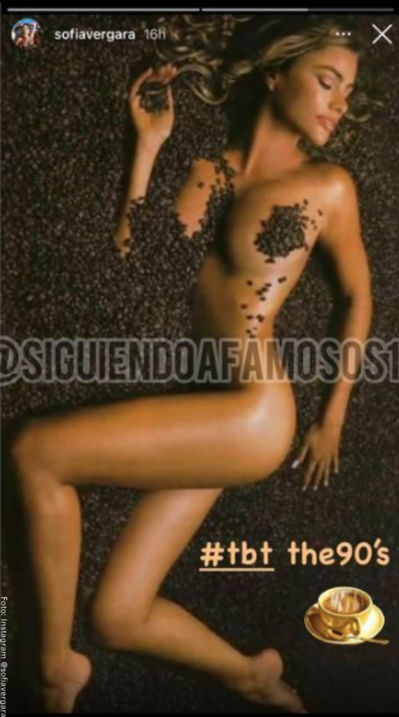 Sofía Vergara semidesnuda en redes sociales