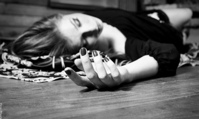 Foto de una mujer muerta
