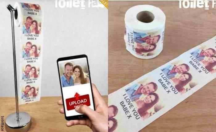 Foto de papel higiénico con fotos