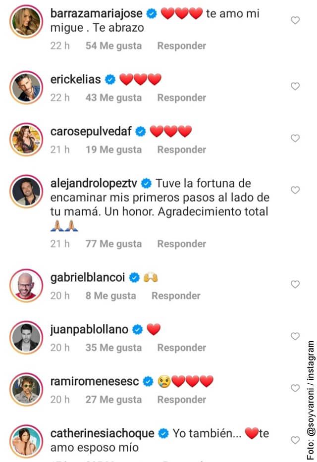 comentarios por la foto de teresita gutierrez mamá de miguel varoni