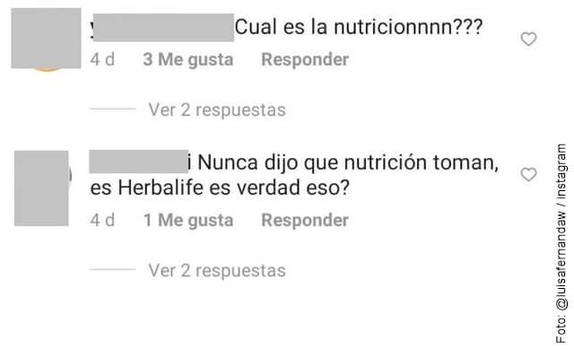 imagen que ilustra comentarios que recibió luisa fernanda w por video