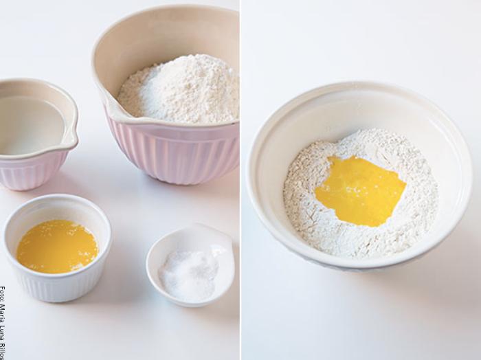 Foto de los ingredientes para hacer hojaldre