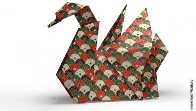Foto de una grulla en origami
