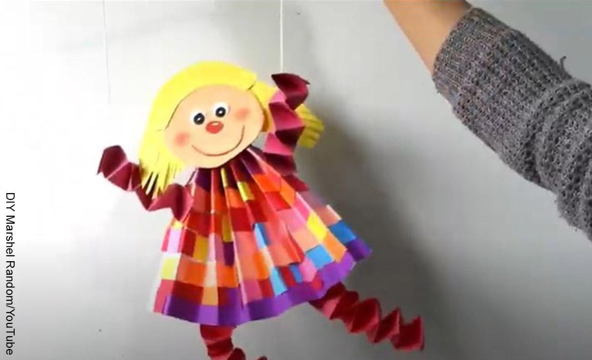 Foto de una manualidad que indica cómo hacer una marioneta