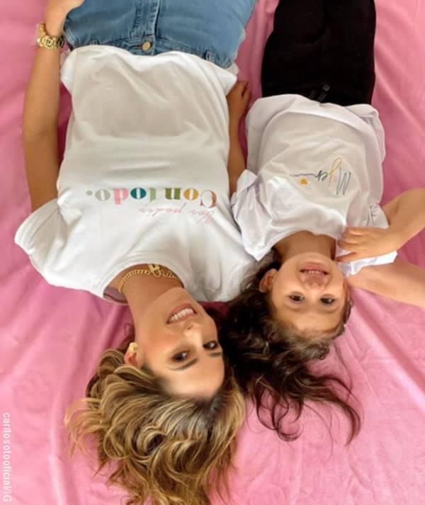 Foto de Carolina Soto y Violetta, su hija