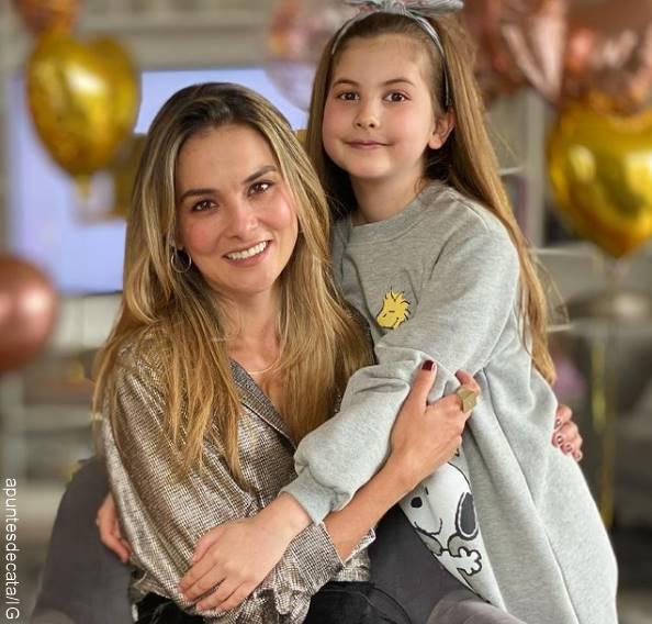 Foto de Catalina Gómez y Emilia, su hija