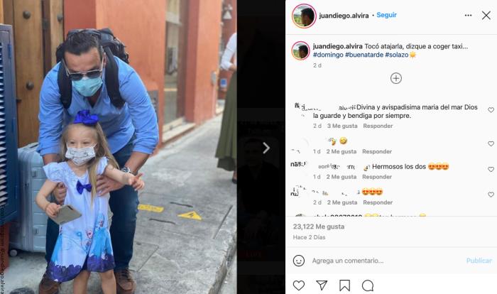 Foto de Juan Diego Alvira junto a su hija