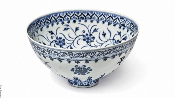 Foto de la taza perteneciente a la mítica dinastía de China