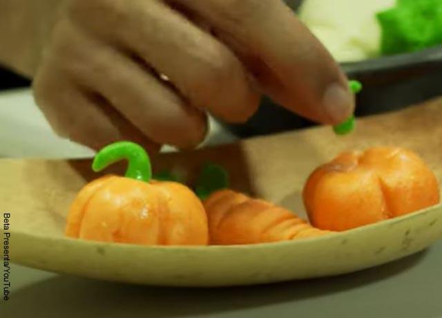 Foto de mazapanes en forma de calabazas
