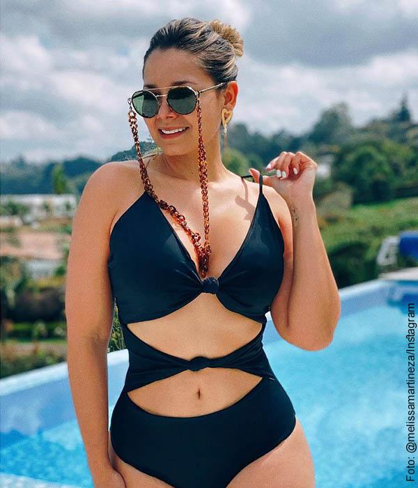 Melissa Martínez posó en vestido de baño y muchos envidian a Matías Mier