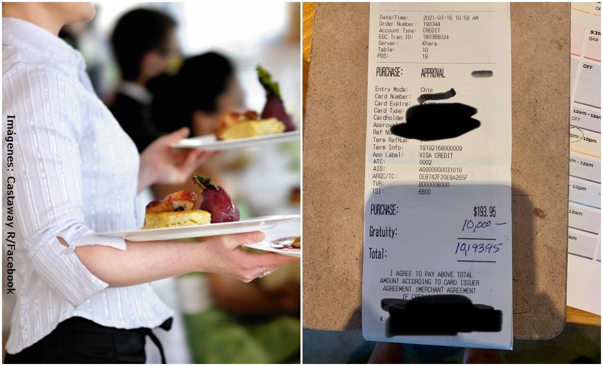 ¡Mujer sorprendió al dejar millonaria propina en un restaurante!