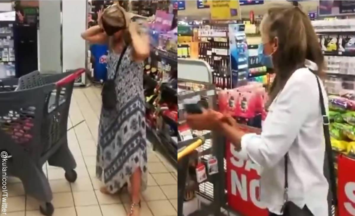Mujer usó su ropa interior como tapabocas y la aplaudieron