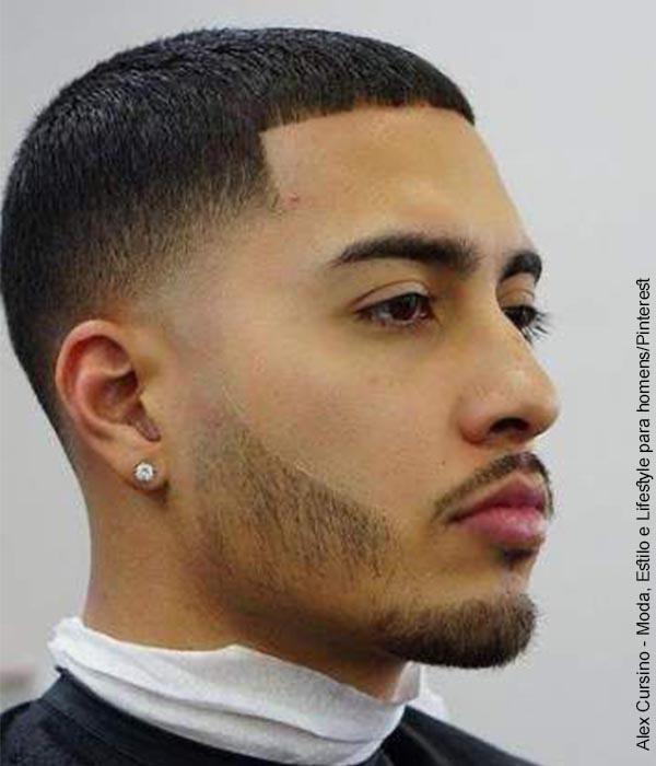 Foto de un hombre con un peinado corto
