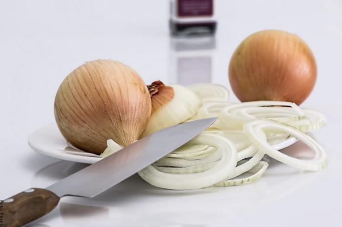 Foto de cebolla en trozos