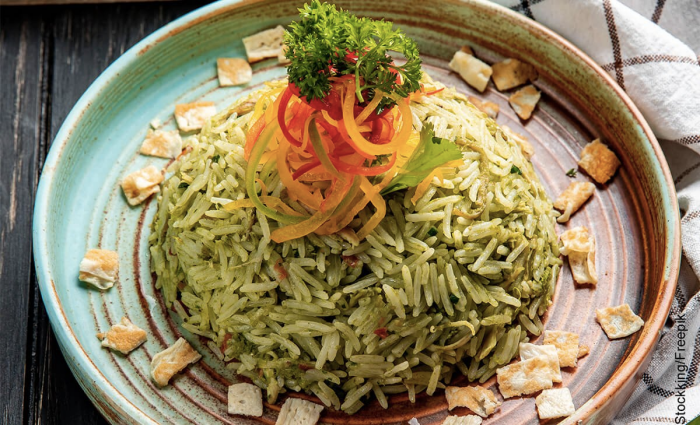Foto de arroz verde