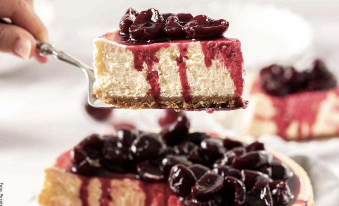 Foto postre cheesecake