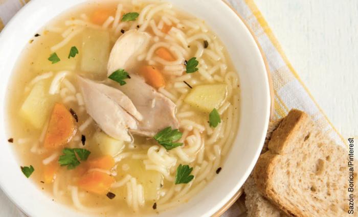 Foto sopa de pasta