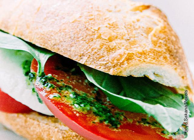 Foto de un emparedado de pollo que muestra los sándwiches y sus recetas