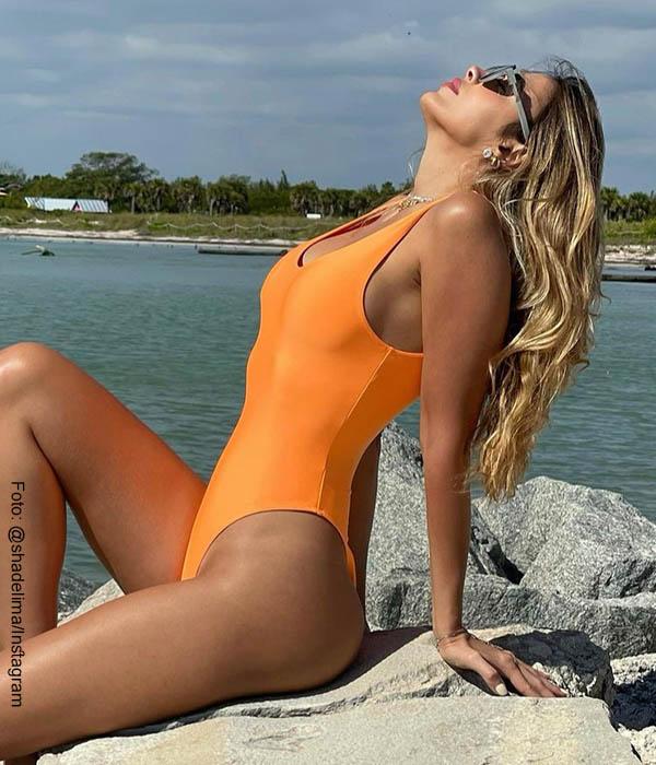"""Shannon de Lima posó en vestido de baño y todos """"quieren esa naranja"""""""