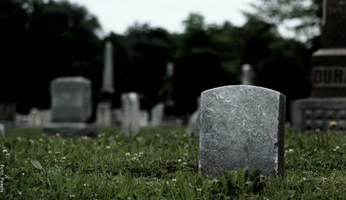 Foto de un cementerio