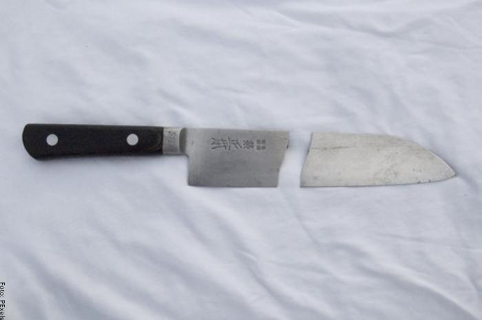 Foto de un cuchillo roto