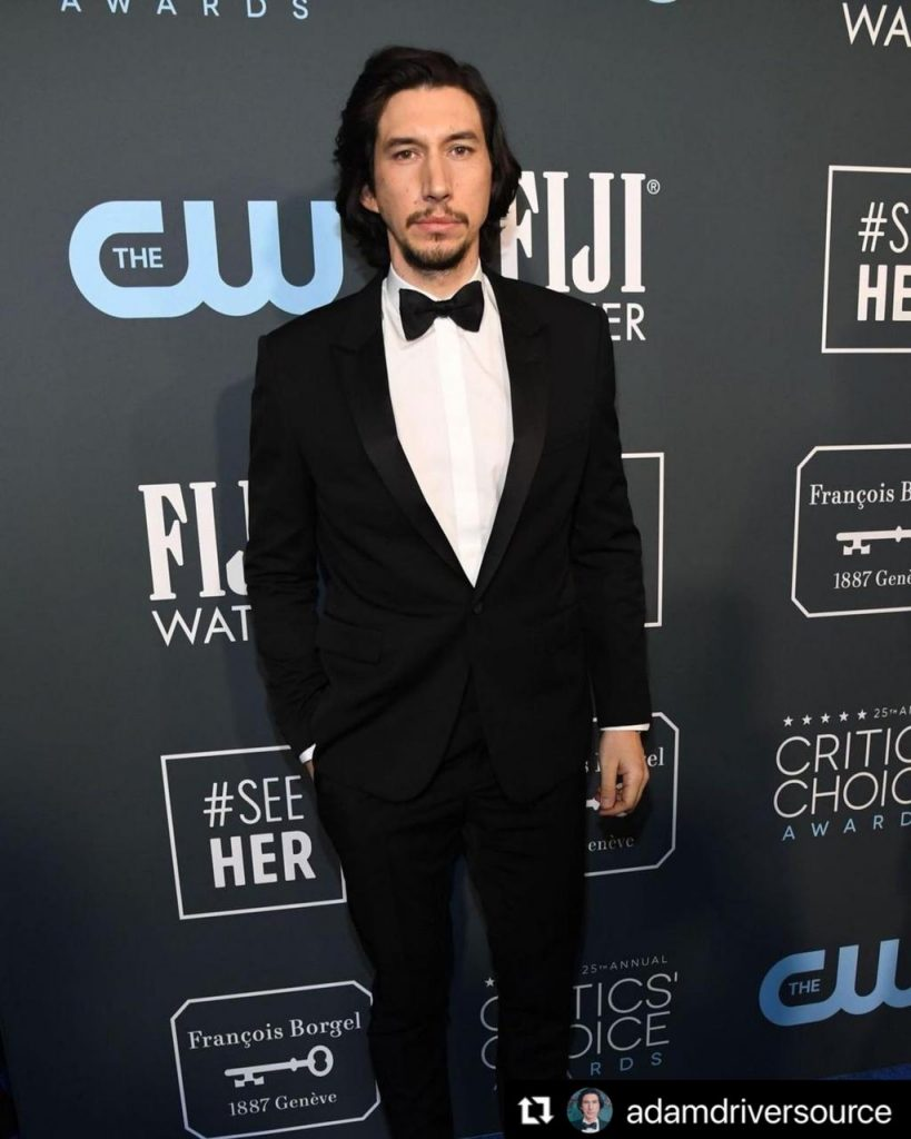 Adam Driver en la alfombra roja de los Critic's Choice Awards.
