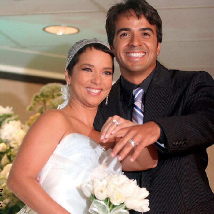 Foto de Adamari López y Luis Fonsi en su matrimonio