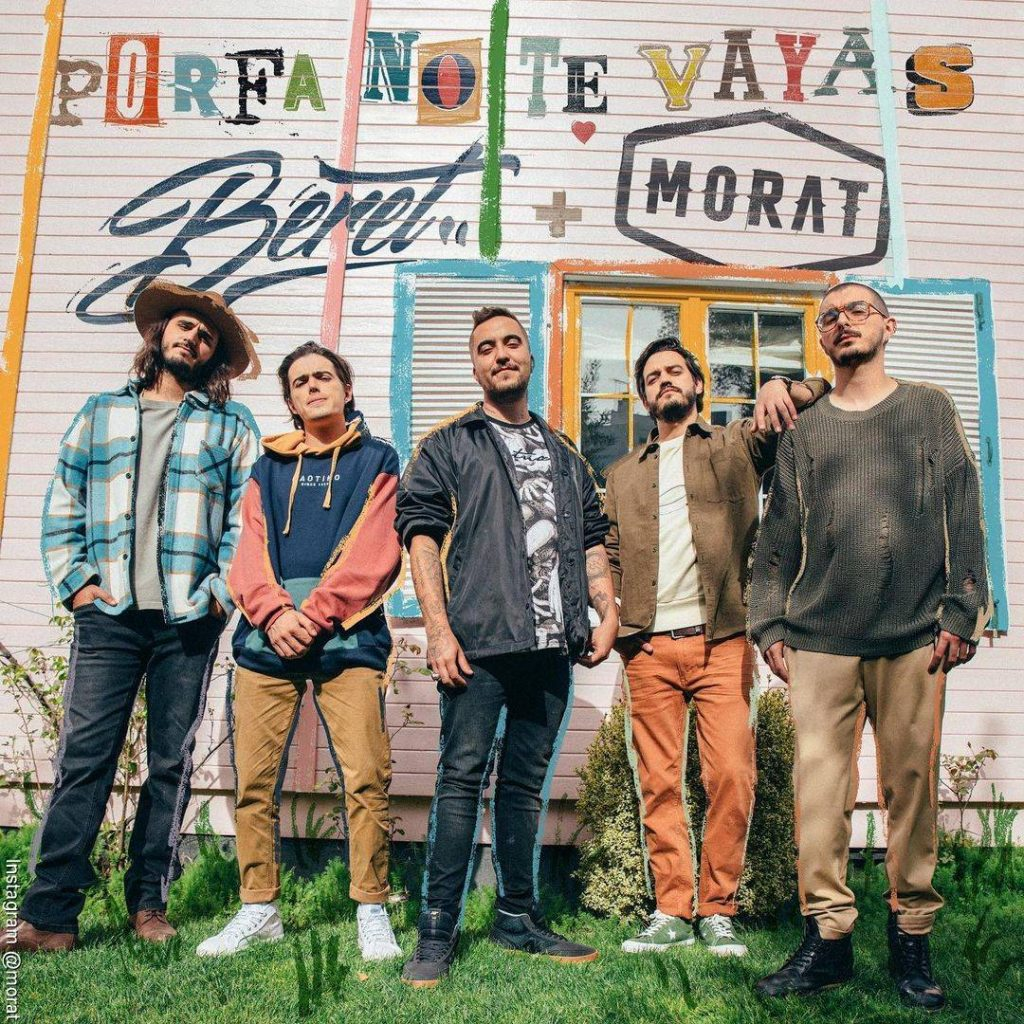 Foto de la portada de Porfa no te vayas de Morat  y Beret