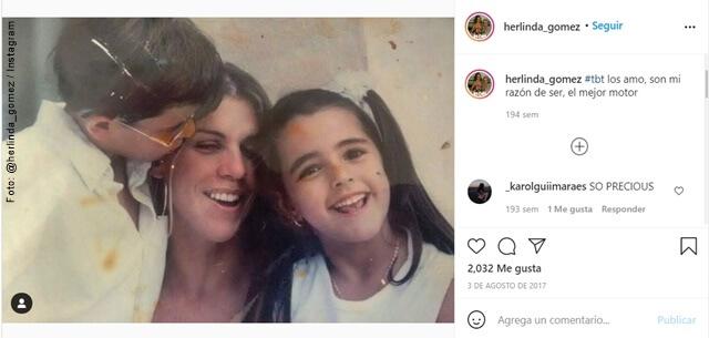 foto de herlinda gomez y sus hijos
