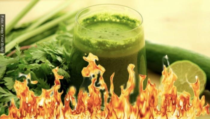 Foto de jugo verde quema grasa