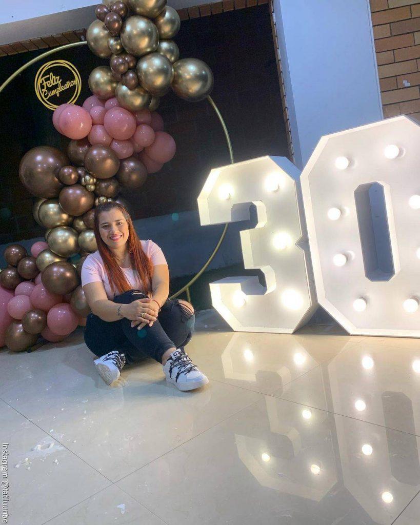 Foto de Tatiana Uribe celebrando su cumpleaños