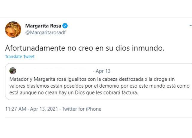 Captura de pantalla de Twitter