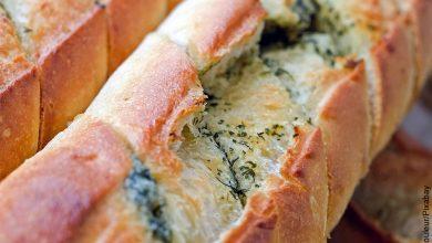 Foto de un producto de panadería que muestra el pan francés con su receta