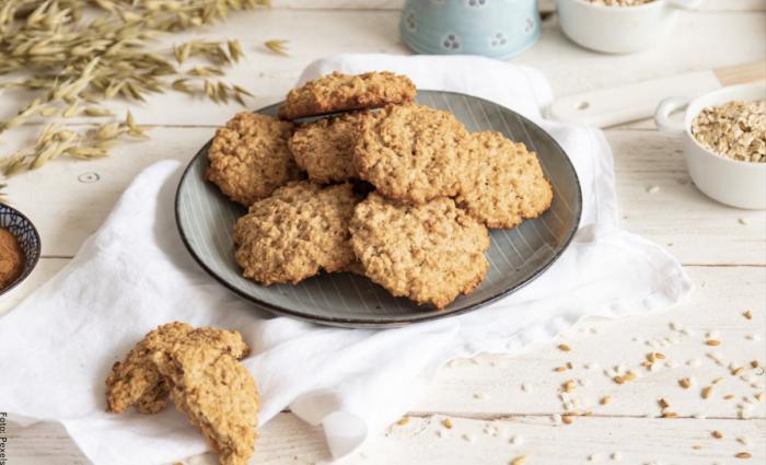 Foto de galletas de avena crocantes