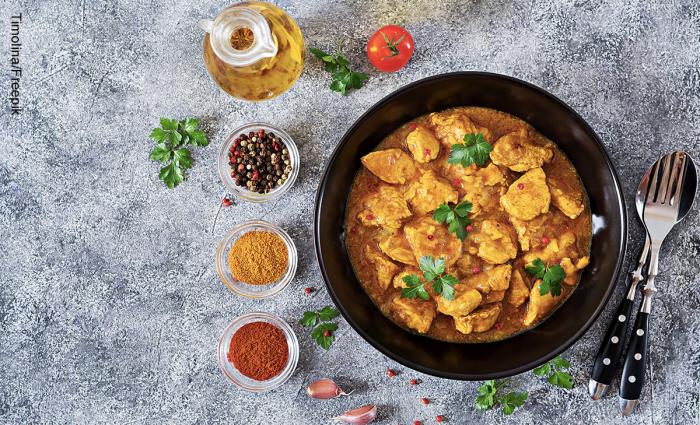foto de pollo al curry