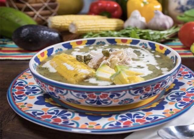 Foto de un plato de ajiaco