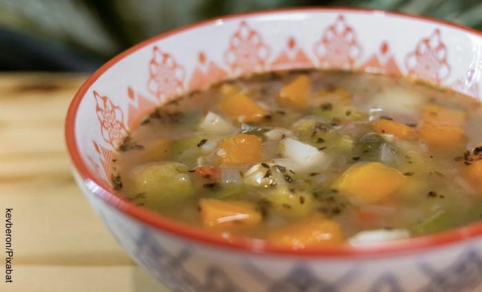 Foto de sopa de verduras